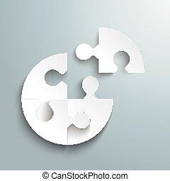 White Paper Circle Puzzle Last Piece