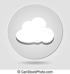 white paper cloud icon on a white background