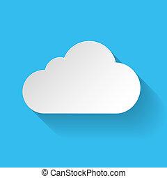 White paper cloud