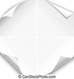 White Paper Corner Folds