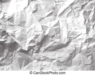 white paper crumpled