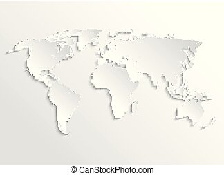 White world map in perspective infographic vector template for white paper earth 3d map vector template for business infographic gumiabroncs Images