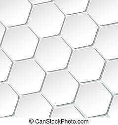 White paper hexagon labels. Eps 10 vector file.