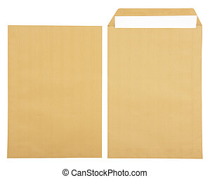 White paper in open brown envelope