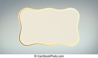 White Paper Label Rolling w Alpha - Title animation of a...