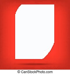 white paper note blank isolated vector