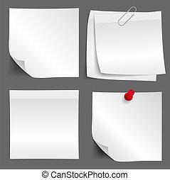 White paper note set