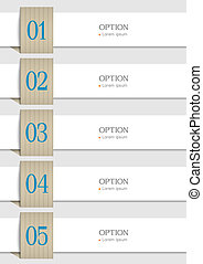 White paper numbered banners