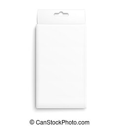 White paper packaging box. - White paper packaging box with...