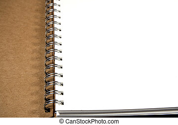White paper page of Note Book