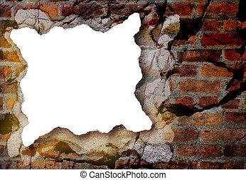White Paper Piece With Grunge Background