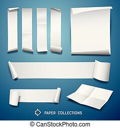 White paper roll collections for business design