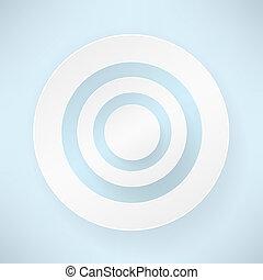 white paper round bubble