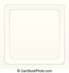 White Paper Round Square with Shadow on White Background
