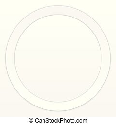 White Paper Round with Shadow on White Background