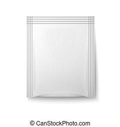 White paper sachet bag. - White paper sachet bag for coffee...