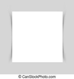 White paper shadow