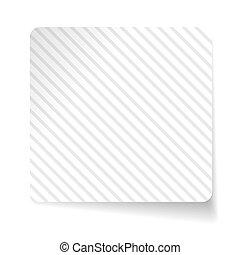 White paper sticker vector