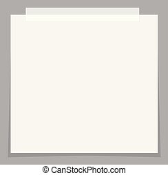 white paper stickers icon with shadow on gray background. flat style. white stick note paper icon for your web site design, logo, app, UI. note paper and sticker symbol.