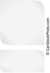 White paper stickers