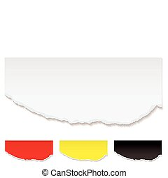 White paper torn edge - White paper with torn edge and...