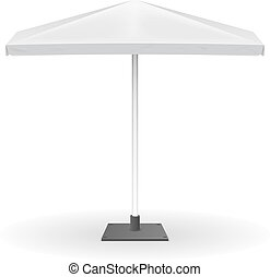 White parasol or vector promo umbrella isolated on background