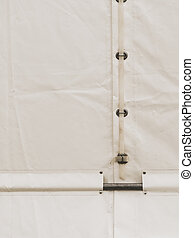 White party event tent detail
