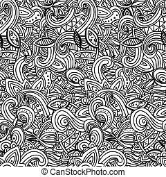 White Pattern Doodles - Decorative Sketchy Notebook Design- Hand-Drawn Vector Illustration Background.