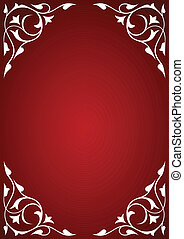 White pattern frames on red