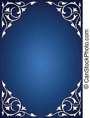 White pattern frames over blue