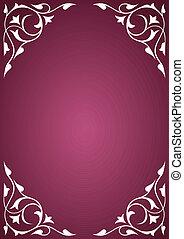 White pattern frames over pink