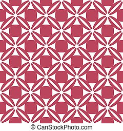 White pattern on red seamless background.