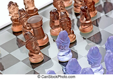 White Pawn Againts Black Pieces - This chess game, white...