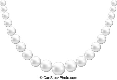 White pearl decoration isolated on white background