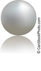White pearl - Illustration of white pearl on white...