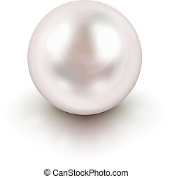 White pearl - Shiny natural white pearl with light effects