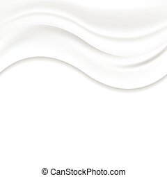 White pearl wavy silk vector abstract background