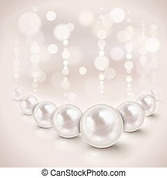 White pearls background - White pearls shiny background with...