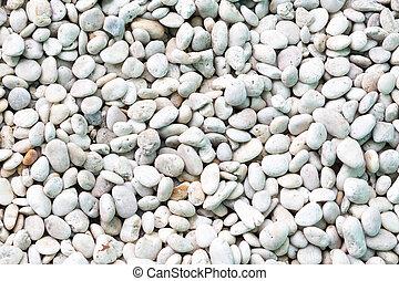 White pebble on the floor