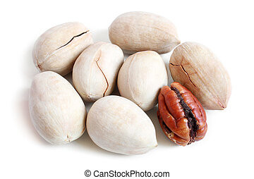 White pecan nuts