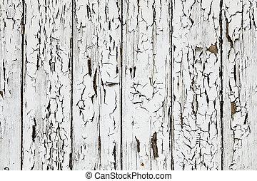 White Peeling Paint Wooden Board