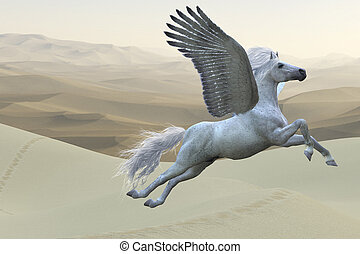 White Pegasus Horse - Pegasus is a mythical white divine...