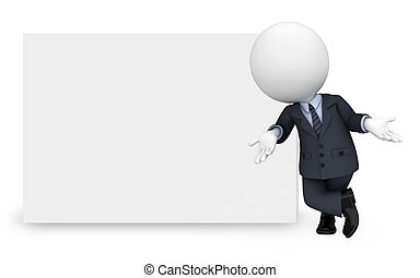 3d rendered illustration of white people working as business man