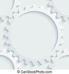 White perforated paper. - White perforated paper with cut...
