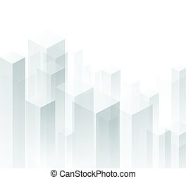 White perspective 3d geometric background. Vector paper illustration.
