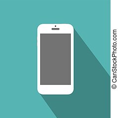 White phone standalone - White touch phone at green ...