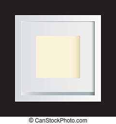 White photo frame black