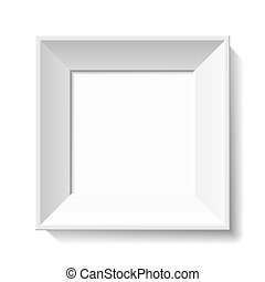 White photo frame - Vector illustration of a white blank...