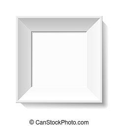 White photo frame - Vector illustration of a white blank ...
