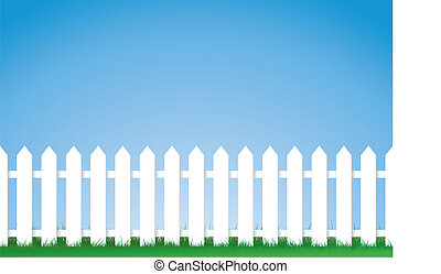white picket fence - a vector illustration of a white picket...